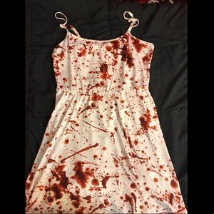 Hot topic blood spatter dress